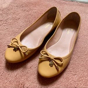 Kate Spade NY Willa Patent Ballet Flat Beige 7